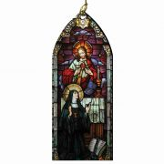 Sacred Heart of Jesus/St. Margaret Mary Alacoque Stained Wood Ornament