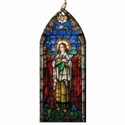 St. Maria Goretti Stained Glass Wood Ornament
