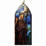 Saint Joseph Stained Glass Wood Ornament