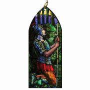 Saint Longinus the Centurion Stained Glass Wood Ornament