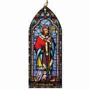 Saint Stanislaus Stained Glass Wood Ornament