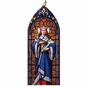 Saint Louis IX Stained Glass Wood Ornament
