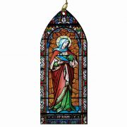 Saint Anne Stained Glass Wood Ornament