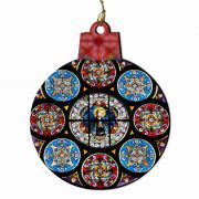 Saint Stanislaus Kostka Stained Glass Wood Ornament