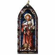 Saint John the Baptist Stained Glass Wood Ornament