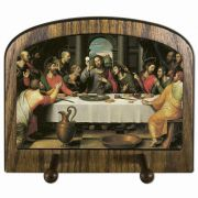 The Last Supper by Juan de Juanes Horizontal Wall Mounted Peg Holder