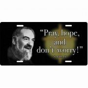Saint Padre Pio License Plate
