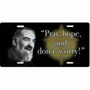 Saint Padre Pio License Plate