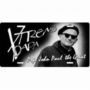Saint John Paul II Xtreme Papa License Plate