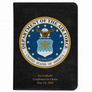 Personalized/Custom Text Bible w/ Air Force Cover - Black NABRE