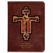 Personalized/Custom Text Bible  Byzantine Crucifix  Burgundy RSVCE