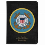 Personalized/Custom Text Bible w/ Coast Guard Cover - Black NABRE