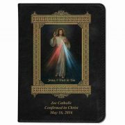 Personalized/Custom Text Bible w/ Divine Mercy Cover - Black NABRE