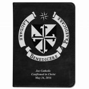 Personalized/Custom Text Bible w/ Dominican Shield Cover - Black RSVCE