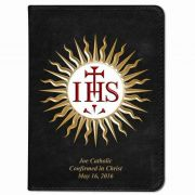 Personalized/Custom Text Catholic Bible with IHS Cover - Black RSVCE