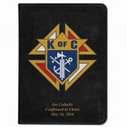 Personalized/Custom Text Bible w/Knights of Columbus Cover Black RSVCE