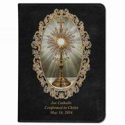 Personalized Catholic Bible with Monstrance Cover - Black NABRE