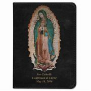 Personalized Catholic Bible w/Our Lady of Guadalupe Cover Black NABRE