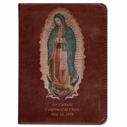 Personalized/Custom Text Bible  Lady of Guadalupe Cover Burgundy RSVCE