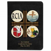 Personalized/Custom Text Catholic Bible with RCIA Cover - Black RSVCE