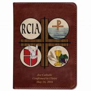 Personalized/Custom Text Catholic Bible w/ RCIA Cover - Burgundy RSVCE
