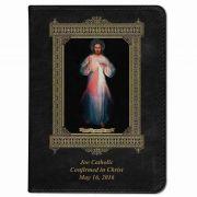 Personalized/Custom Text Bible  Divine Mercy Vilnius Cover Black RSVCE