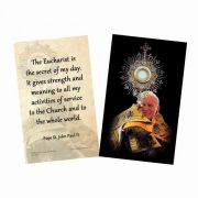 Saint John Paul II with Monstrance Holy Card