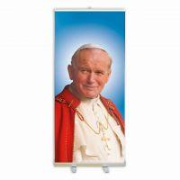 Pope Saint John Paul II Sainthood Banner Stand