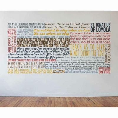 Saint Ignatius of Loyola Quote Wall Decal -  - DEC-Q11
