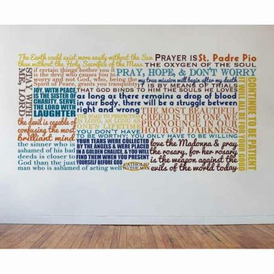 Saint Padre Pio Quote Wall Decal -  - DEC-Q23