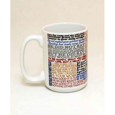 Saint Josemaria Escriva Quote Ceramic 15 Oz Mug -  - MUG15-Q31
