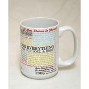 Saint Jane Frances de Chantal Quote Ceramic 15 Oz Mug