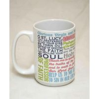 Saint Lucy Quote Ceramic 15 Oz Mug