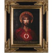 For God So Loved The World Canvas - Dark Museum Framed Wall Art