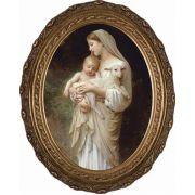 L'Innocence Canvas - Oval Framed Wall Art