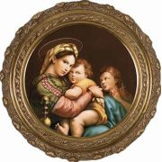 Madonna della Seggiola (Madonna of the Chair) Canvas Round Wall Art