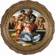 Holy Family by Michaelangelo Framed Wall Art