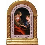 Saint Cecilia Prayer Desk Shrine