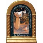 Polish Madonna Prayer Desk Shrine