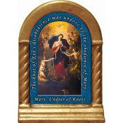 Mary, Undoer of Knots Prayer Desk Shrine