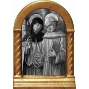 Sts. Catherine and Bernardino Desk Shrine