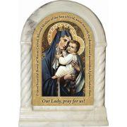 Our Lady of Mount Carmel Prayer Desk Shrine