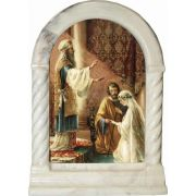 Wedding of Joseph and Mary Desk Shrine