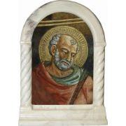 Saint Jude Stonecast Alabaster Desk Shrine