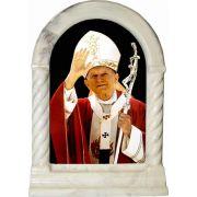 Saint John Paul II Waving Desk Shrine