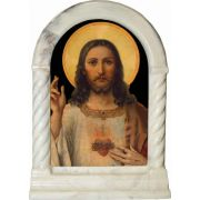 Antique Sacred Heart Desk Shrine