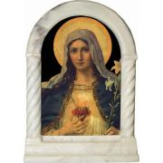 Antique Immaculate Heart Desk Shrine