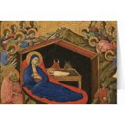 The Nativity with Prophets Isaiah and Ezekiel Christmas Cards