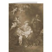 Sepia German Holy Family Christmas Cards (25 Cards)