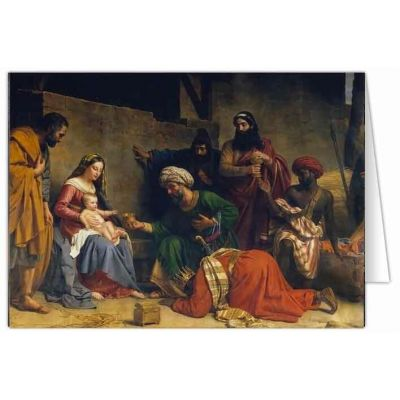 Adoration of the Magi by Alexandre Caminade Christmas Cards (25 Cards) -  - STC-C487